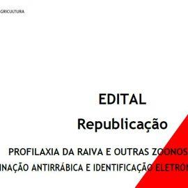 VACINAÇÃO ANTIRRÁBICA E IDENTIFICAÇÃO ELETRÓNICA